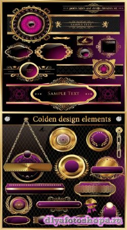 Клипарт - Golden design elements