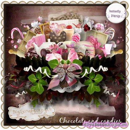 Романтический скрап-набор - Шоколад и сладости