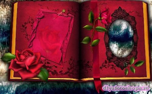 Красивая рамочка - Красный фотоальбом