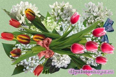 Клипарт Букеты ранних весенних цветов