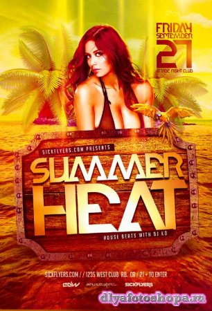 Summer Heat psd flyer template