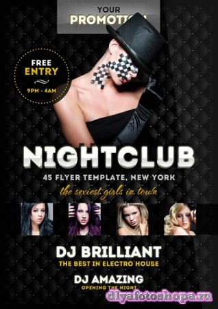 Luxury Night club psd flyer template