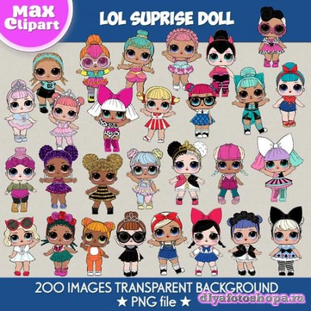 LOL Suprise Dolls clipart