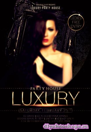Luxury night party psd flyer template